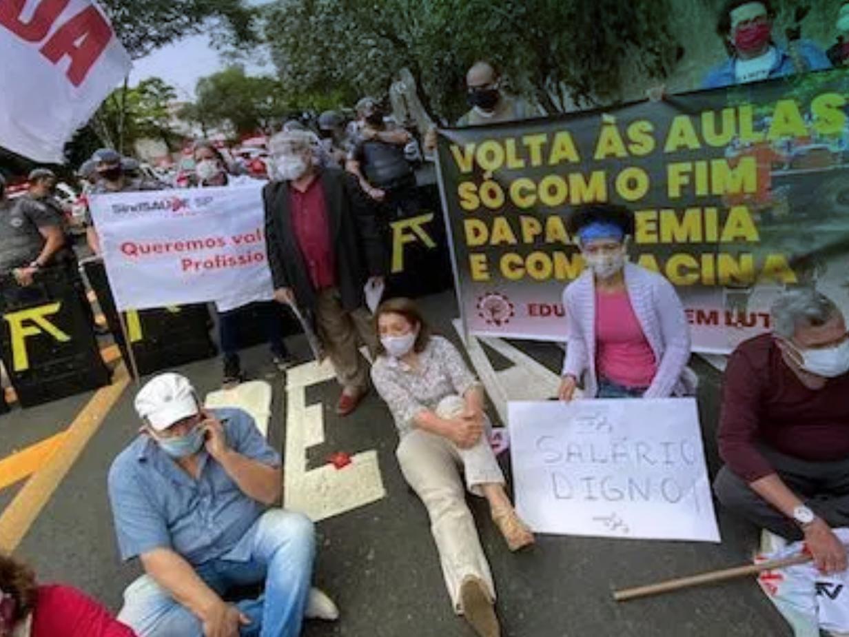 Sao Paulo teachers strike