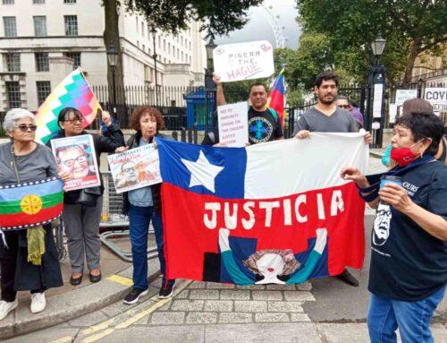 Chile's Piñera Met by Protests on Secretive UK Visit